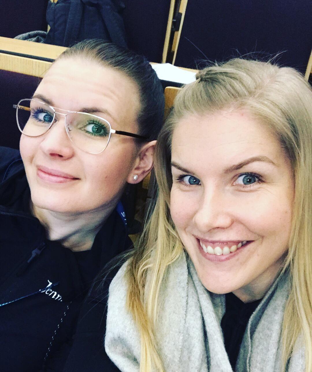 Jennin kanssa valmennuspäivillä Helsingissä!