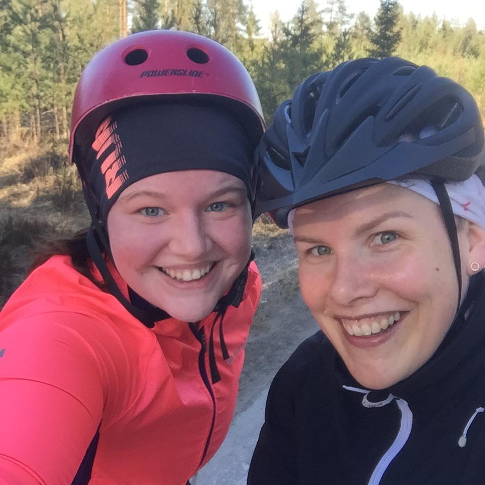 Eilen osallistuttiin ystäväni kanssa Raumalla järjestettyyn haastepyöräilyyn Saarnijärven ympäri. Kilometrejä kertyi 38!