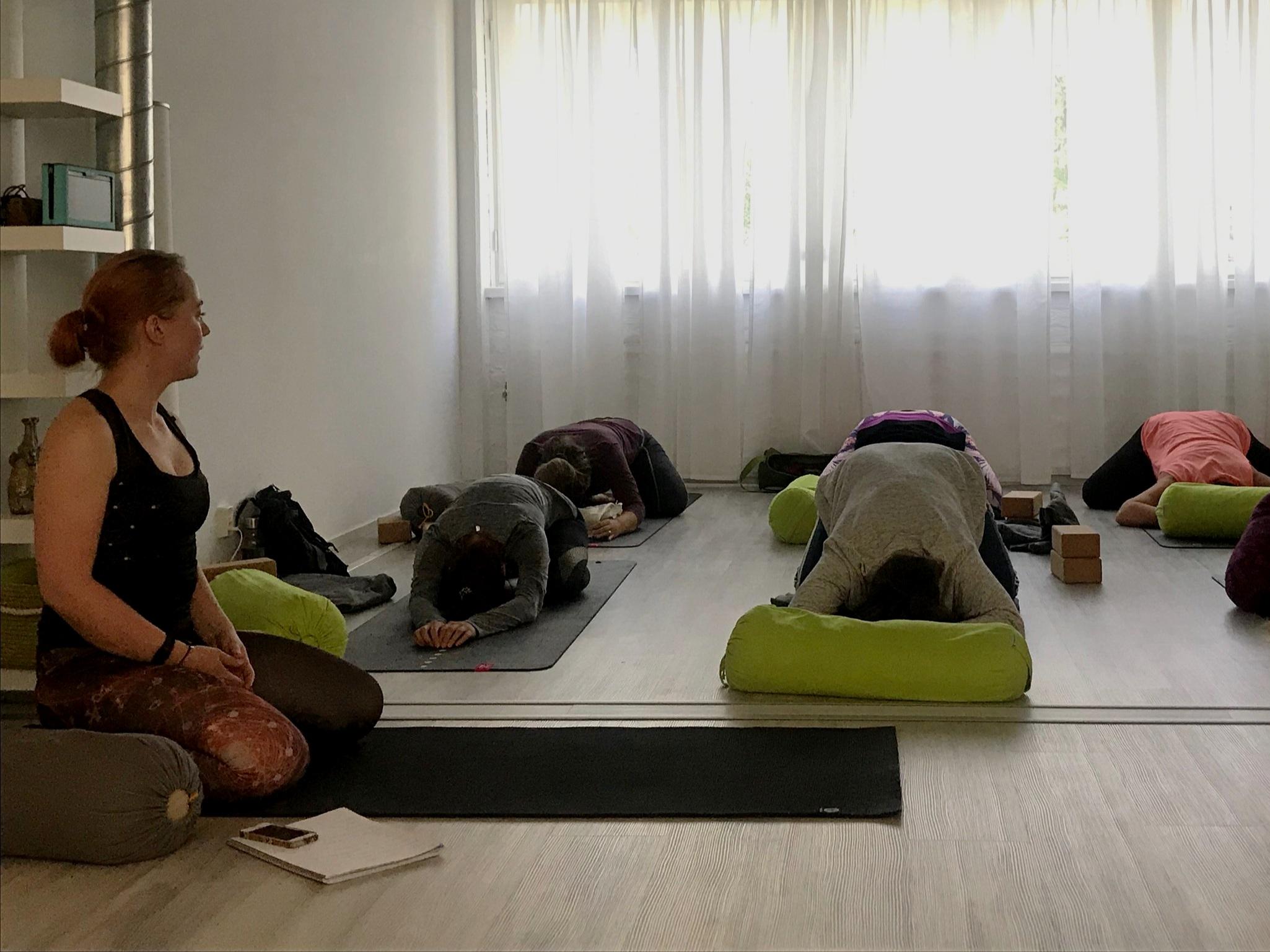 Melinan Yin joogan tunneilla on ihana, rauhallinen tunnelma.