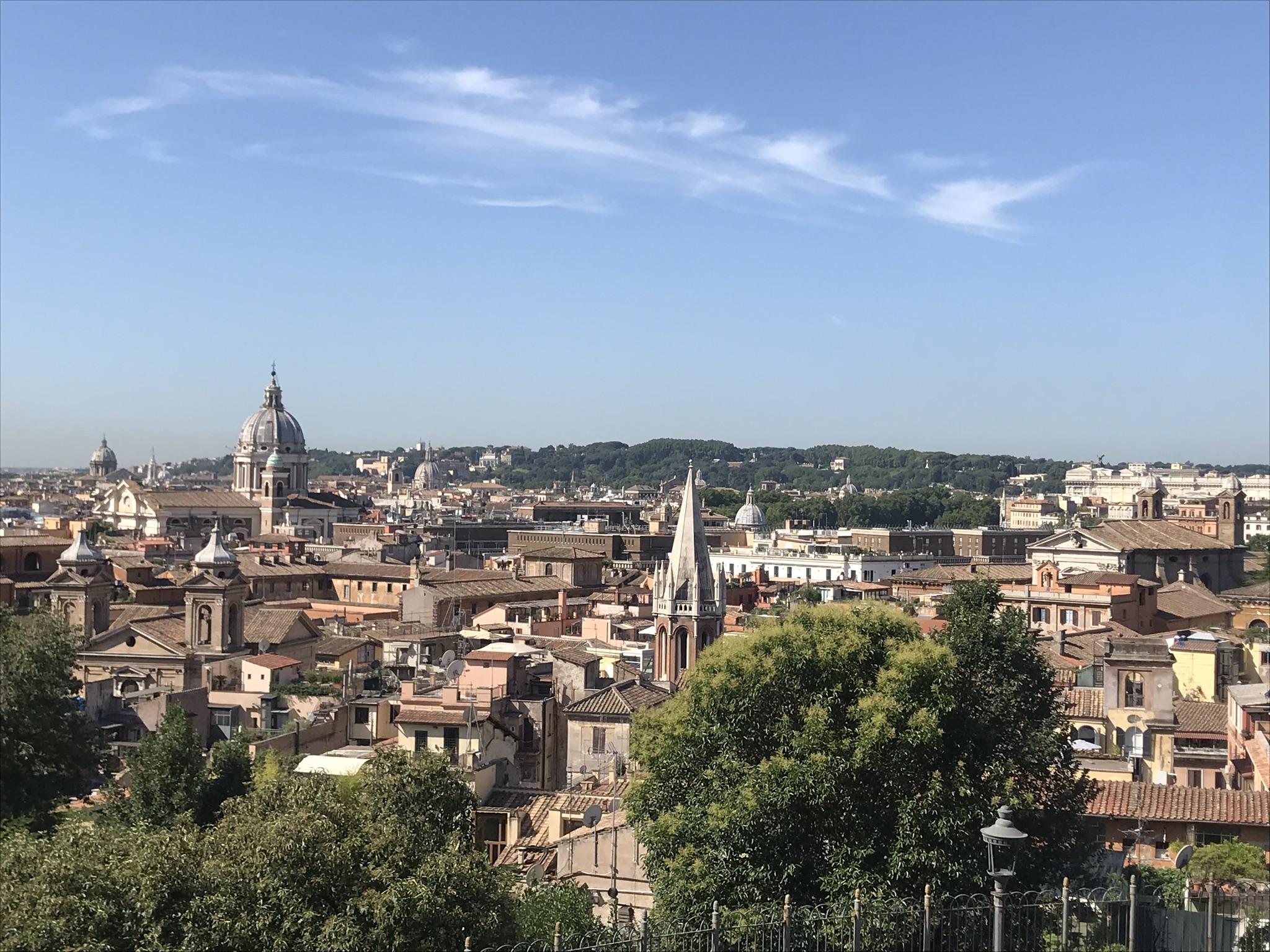 Terazza del Pinciosta  on näin upeat näkymät Roomaan!