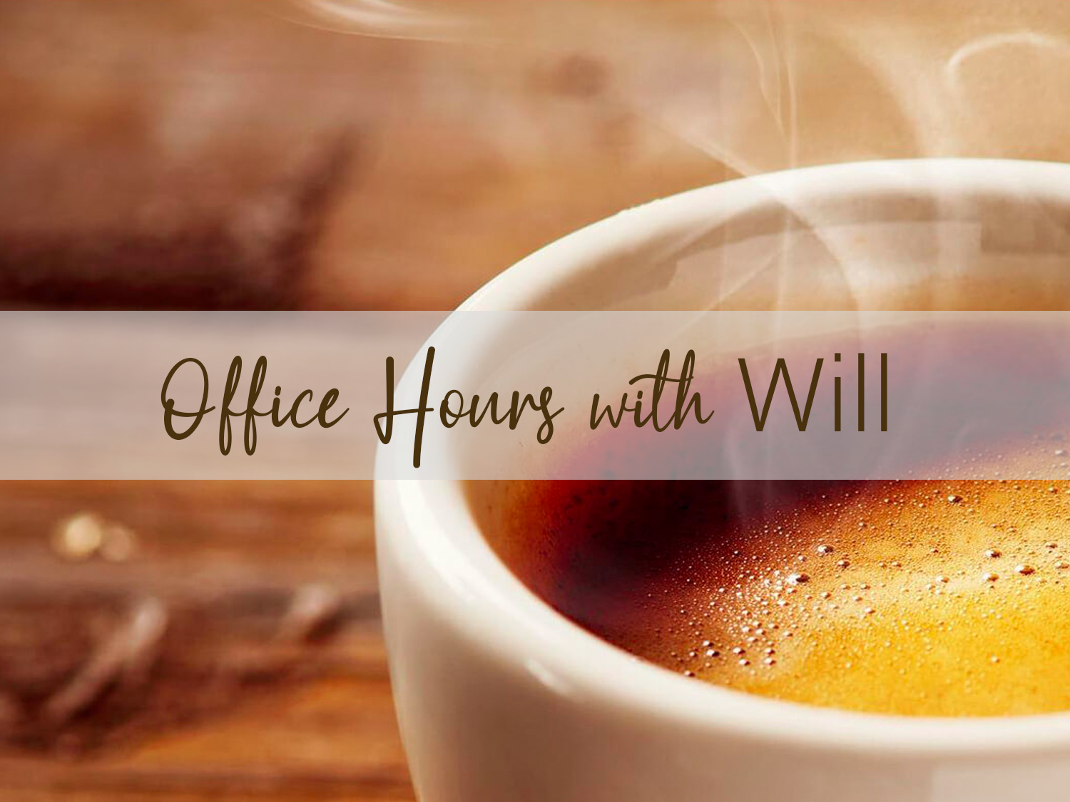 Office Hours with Will - If you have questions about Christianity, Christian living or just want to talk, you can schedule a time to connect with Will! Click here to schedule a time to connect!