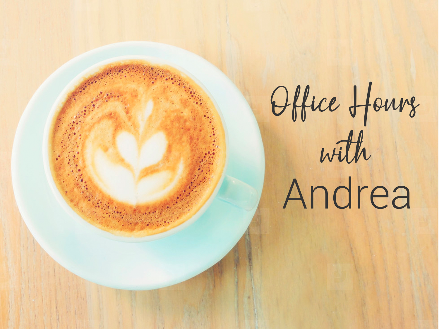 Office Hours with Andrea - If you have questions about Christianity, Christian living or just want to talk, you can schedule a time to connect with Andrea! Click here to schedule a time to connect with Andrea!