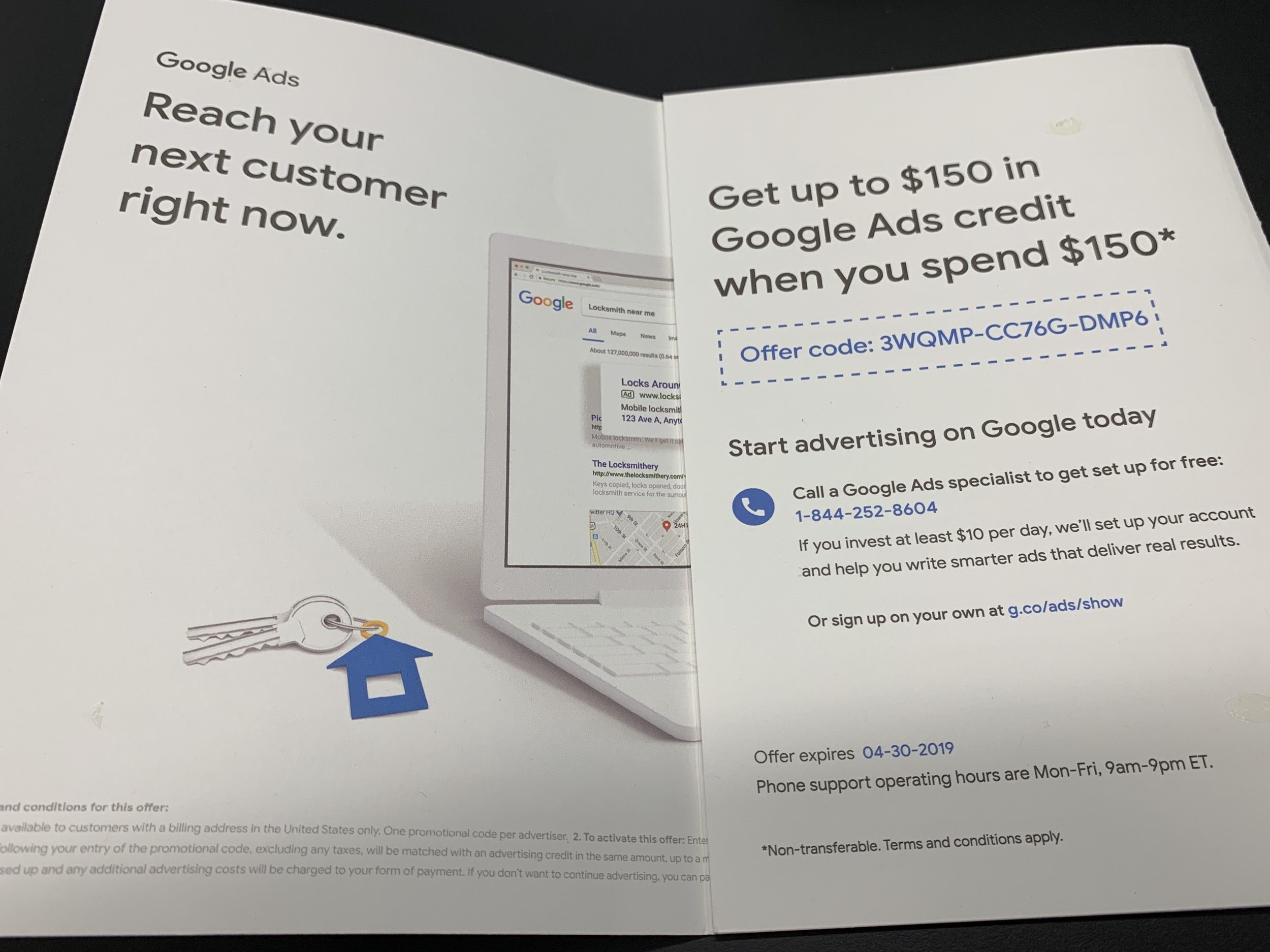 Google Uses Direct Mail