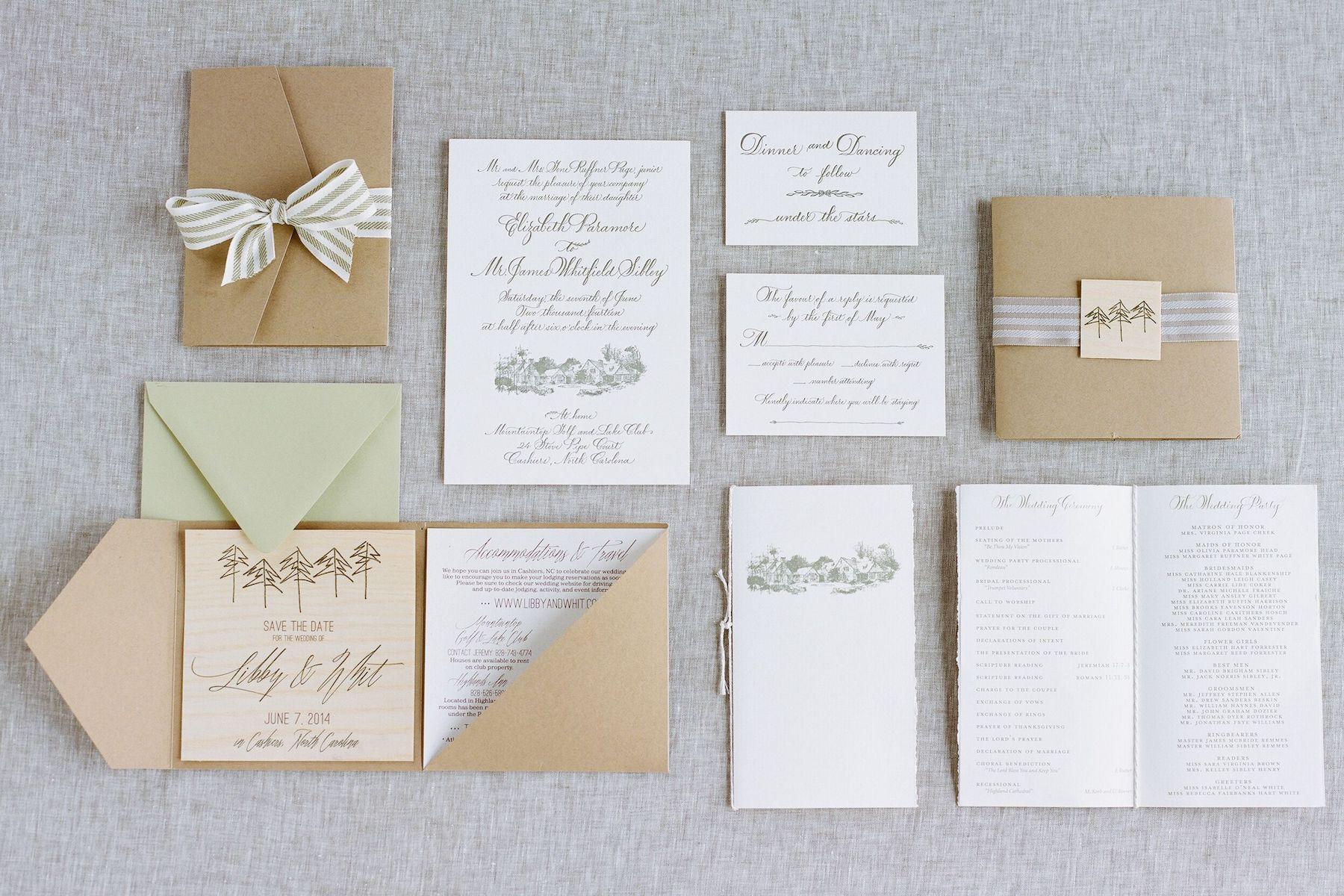cashiers nc wedding paper.jpg