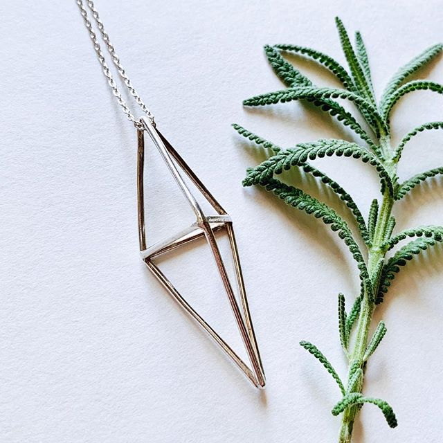 "the PRISM collection is now available! 🌿 Seven pieces hand modeled in wax, and cast in a shiny smooth blend of fine silver + reclaimed sterling.  After taking months to shoot the photos, after weeks of questioning the lighting, because I wanted things to look ""just RIGHT"". Despite the encroaching holiday season, I still could've found reasons to hold off posting, to fall into a ""not done yet"" time warp. But - we can all be our own harshest critic, and these were never supposed to be perfect. It's all a work in progress anyway.  Thank you for the comments along the way, I am so proud of these and am excited to finally share them!Take a look - link in bio."