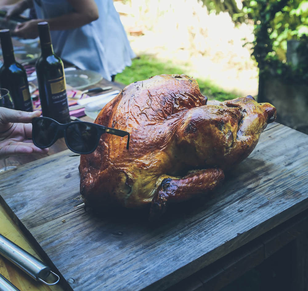 My first turkey on my first thanksgiving abroad