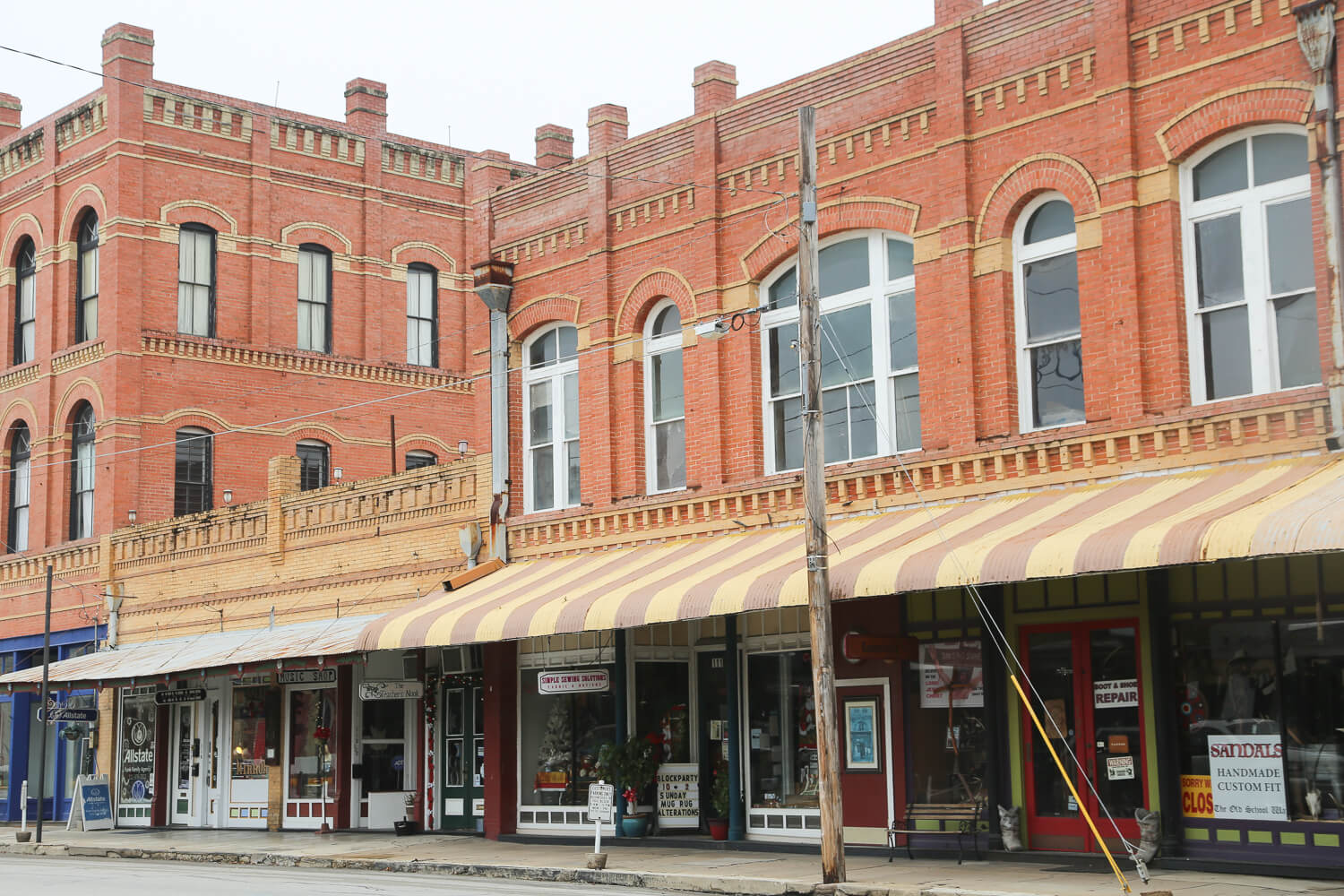 The downtown in Lockhart