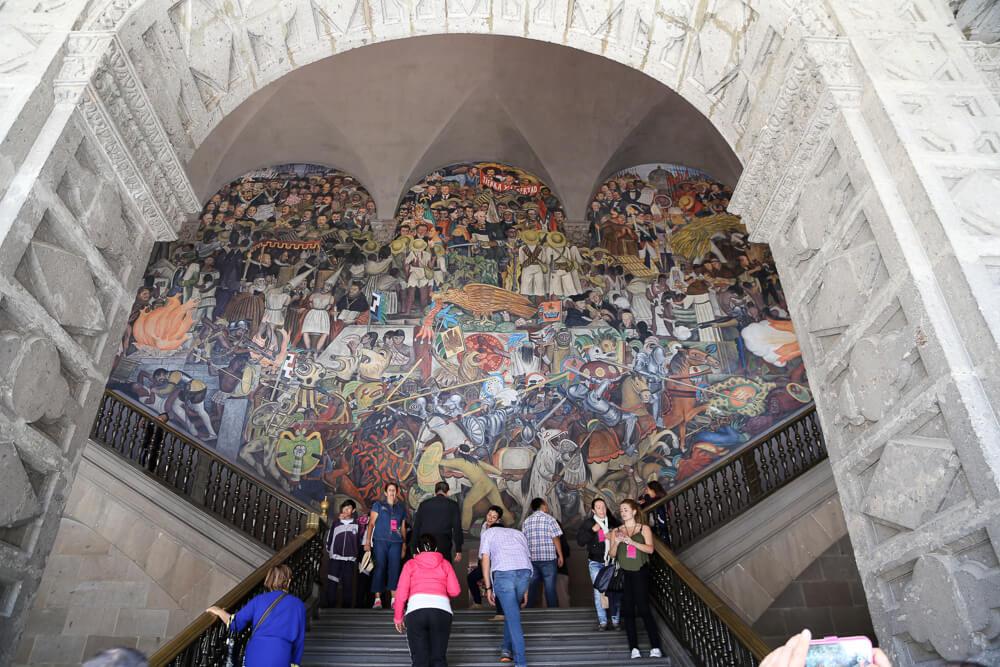 Diego Rivera Mural in Palacio Nacional