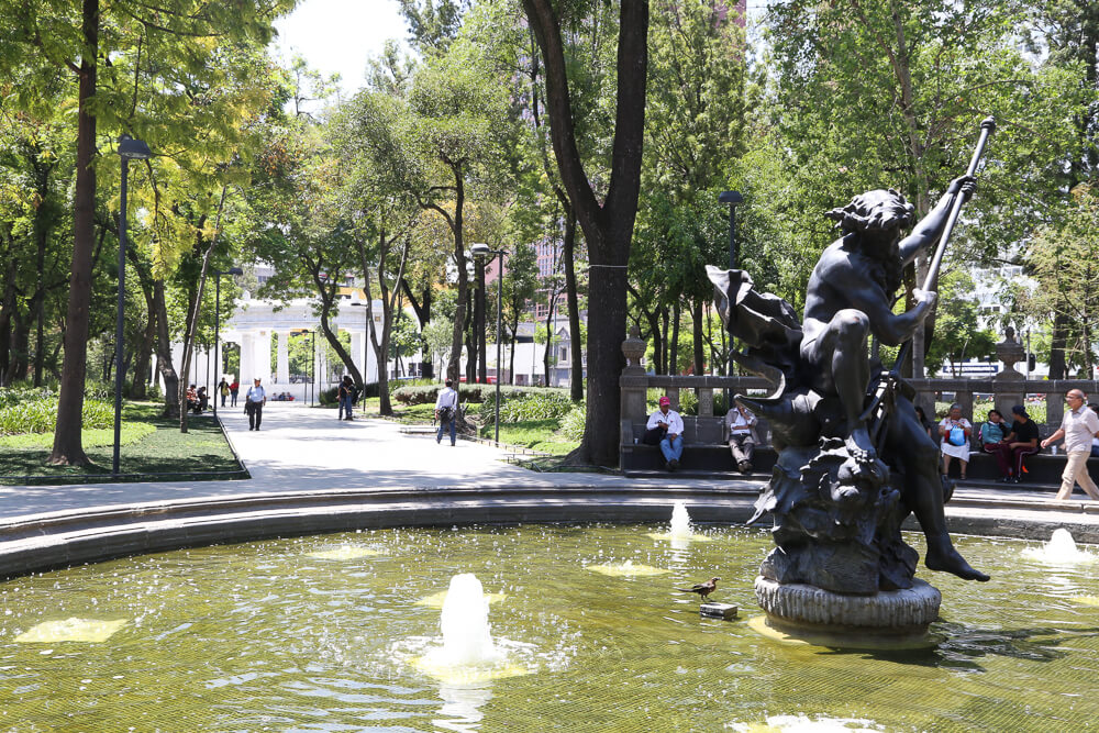 The park in Mexico City