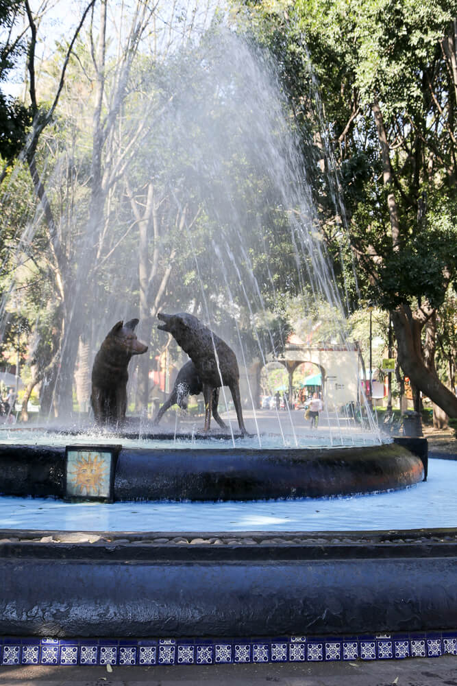One day in Coyoacan | A self guided Coyoacan walking tour including Frida Kahlo museum, Casa Trotrsky and the markets #Coyoacan #MexicoCity #Mexico