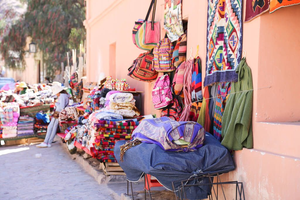 The tourist market in Purmamarca