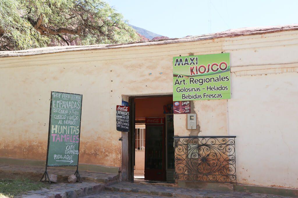 Maxi Kiosko that sold empanadas in Purmamarca Jujuy