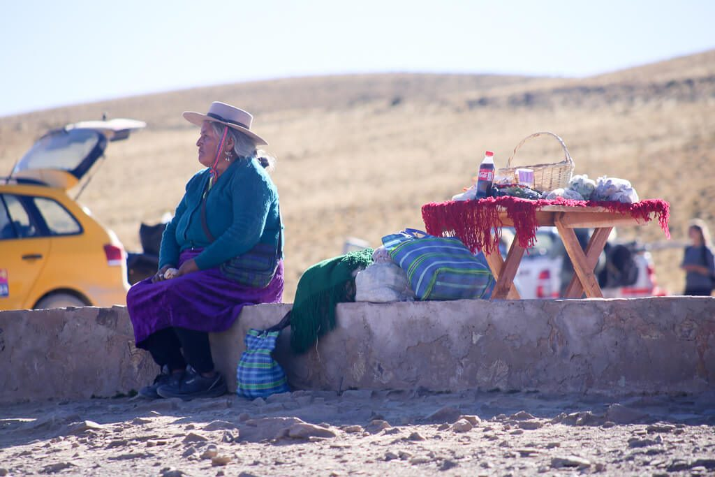 Woman selling coca leaves in Jujuyy