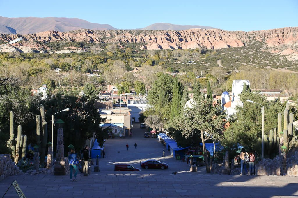 View from the monument in Humahuaca Jujuy