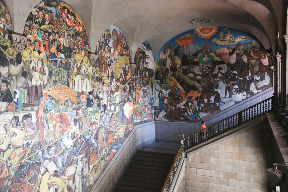 Diego Rivera mural in the National Palace in Mexico City
