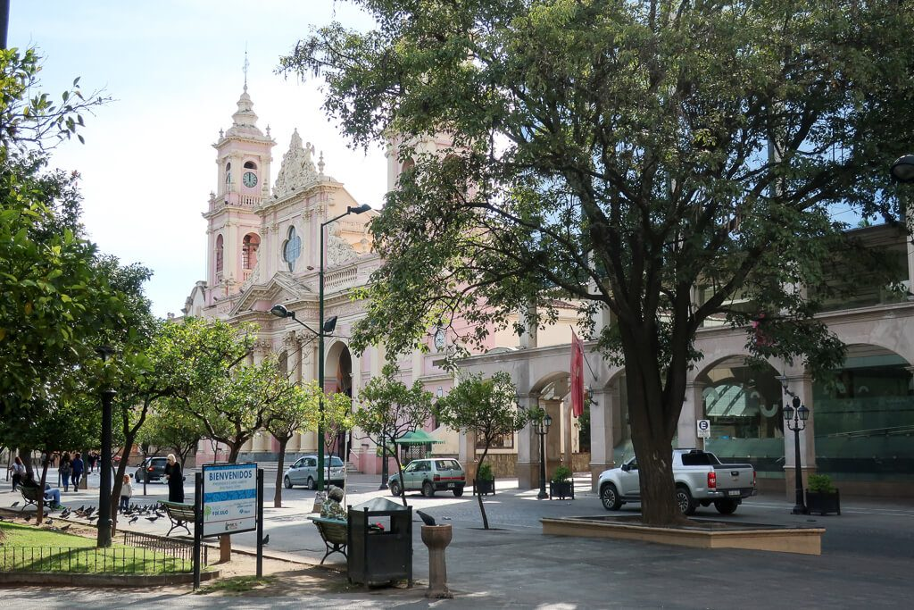 Cathedral and Plaza in Salta