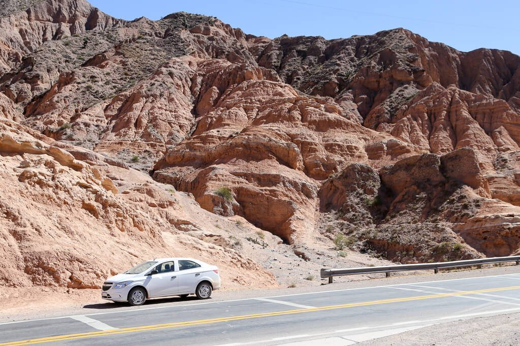 Driving to Tilcara from Purmamarca in Jujuy