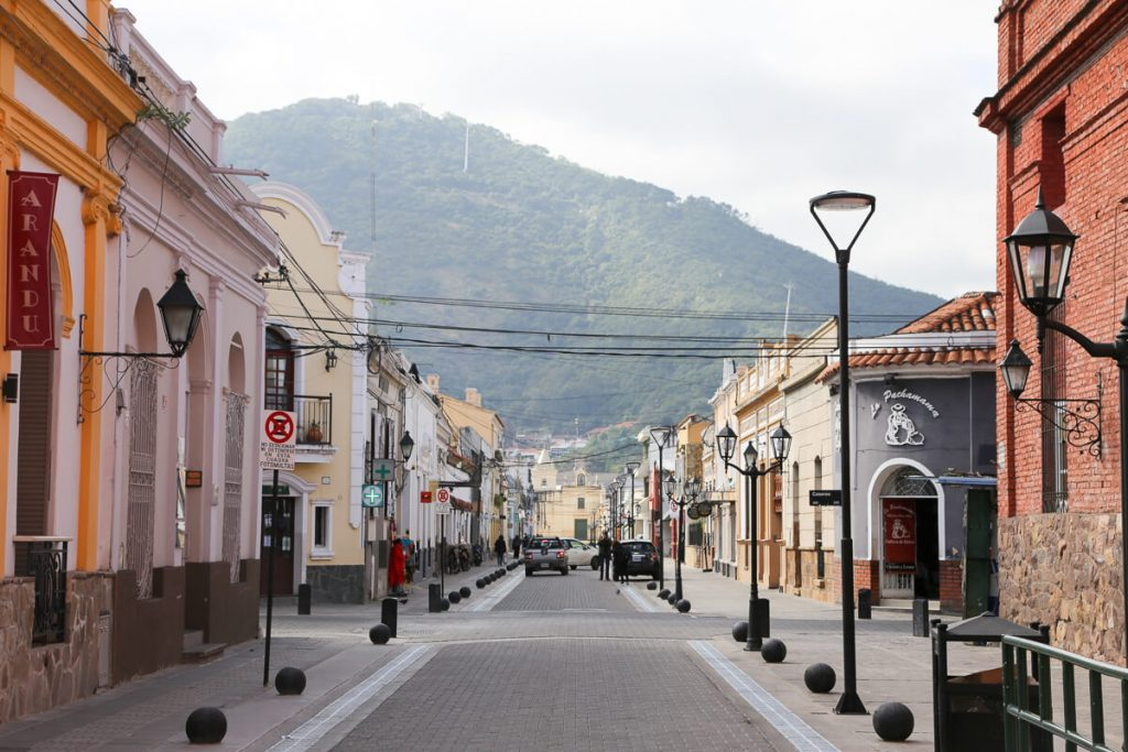 View of Cerro San Bernardo from the streets of Salta
