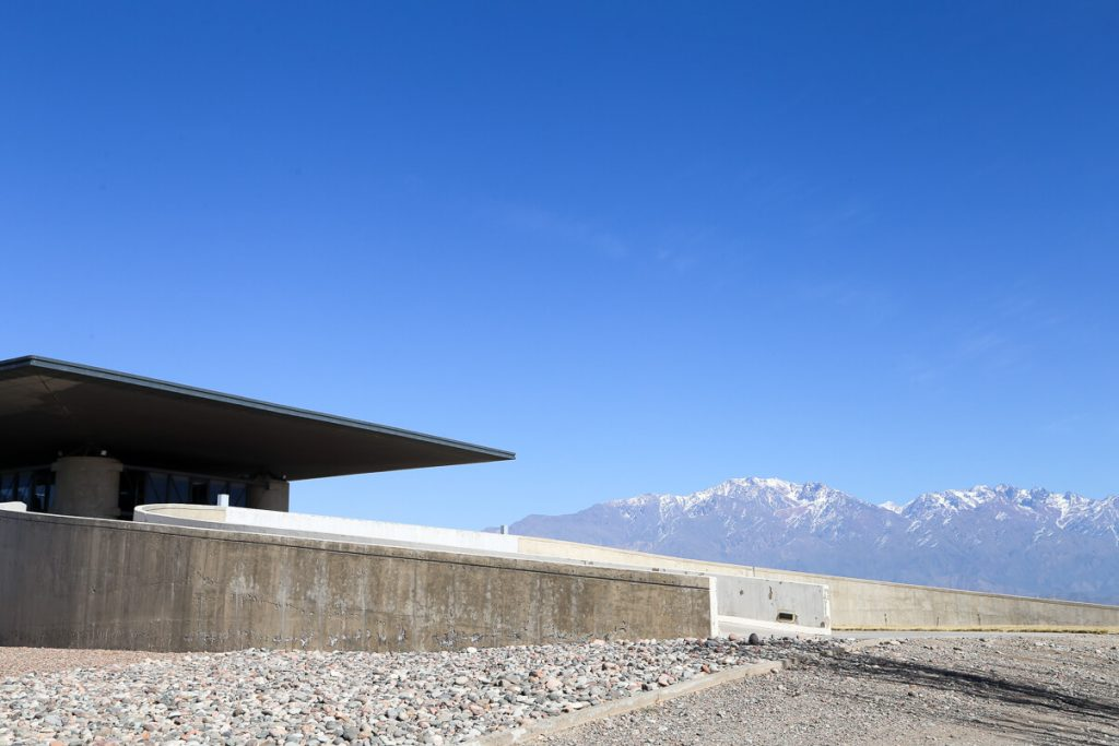The beautiful winery architecture in Mendoza at O.Founier