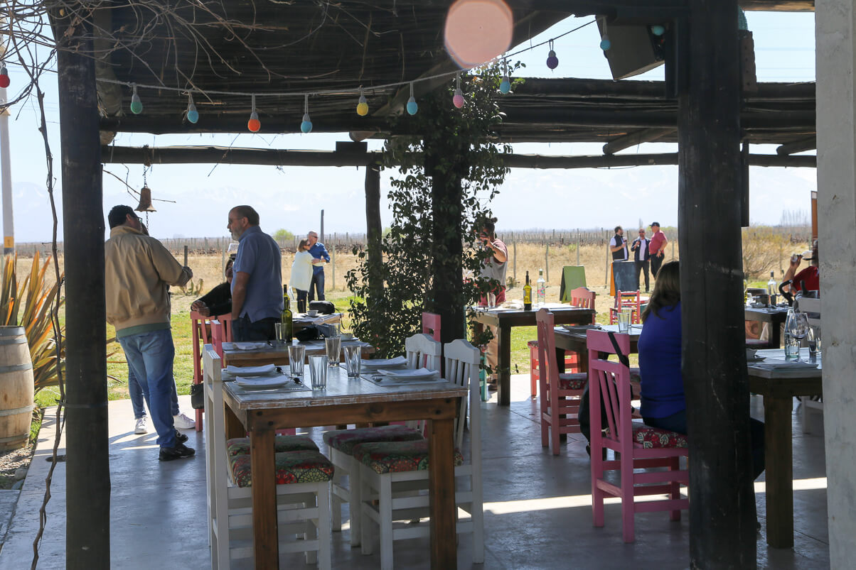 "The ""dining room"" at Bodega Azul"