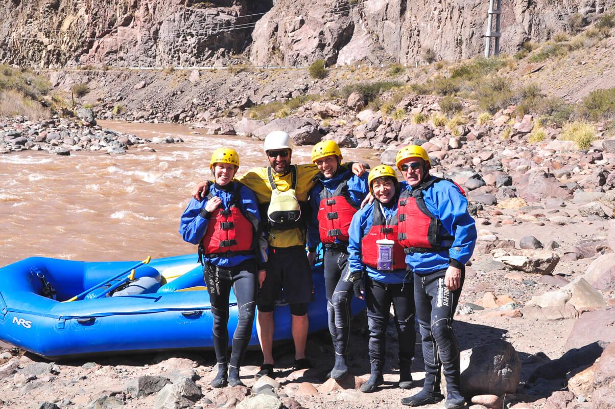 The tour group with Potrerillos Explorer before our rafting tour Mendoza