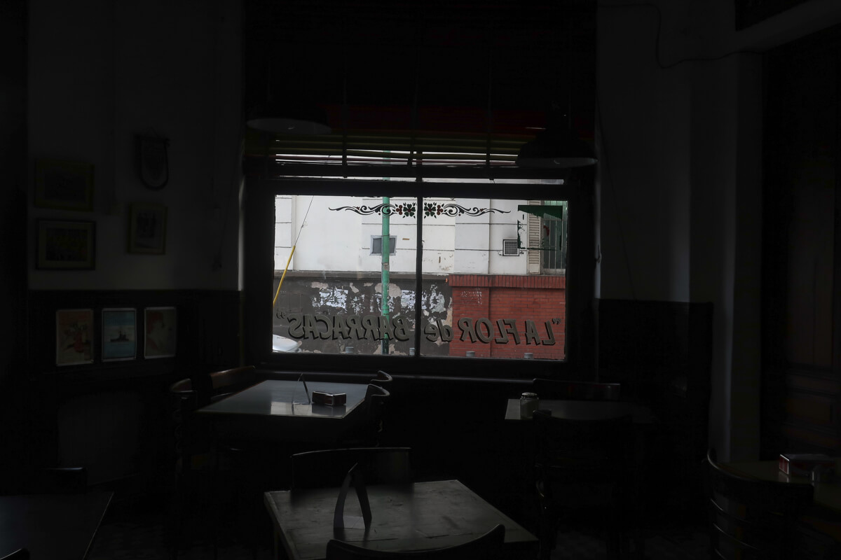 A historic cafe in the neighborhood of Barracas Buenos Aires