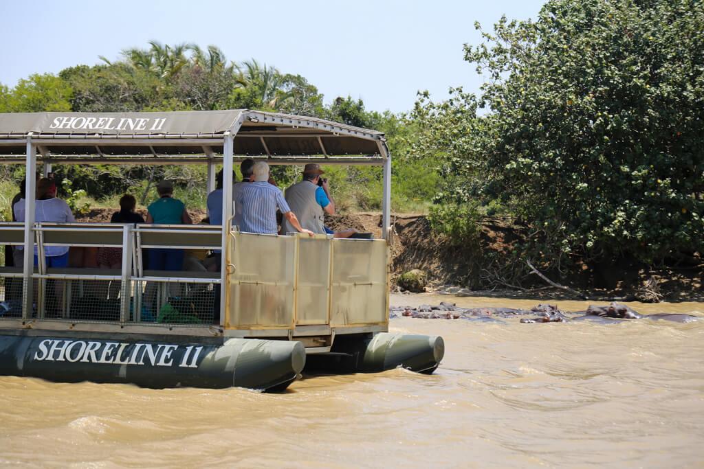 Hippo and croc cruise in St. Lucia Kwa-Zulu Natal