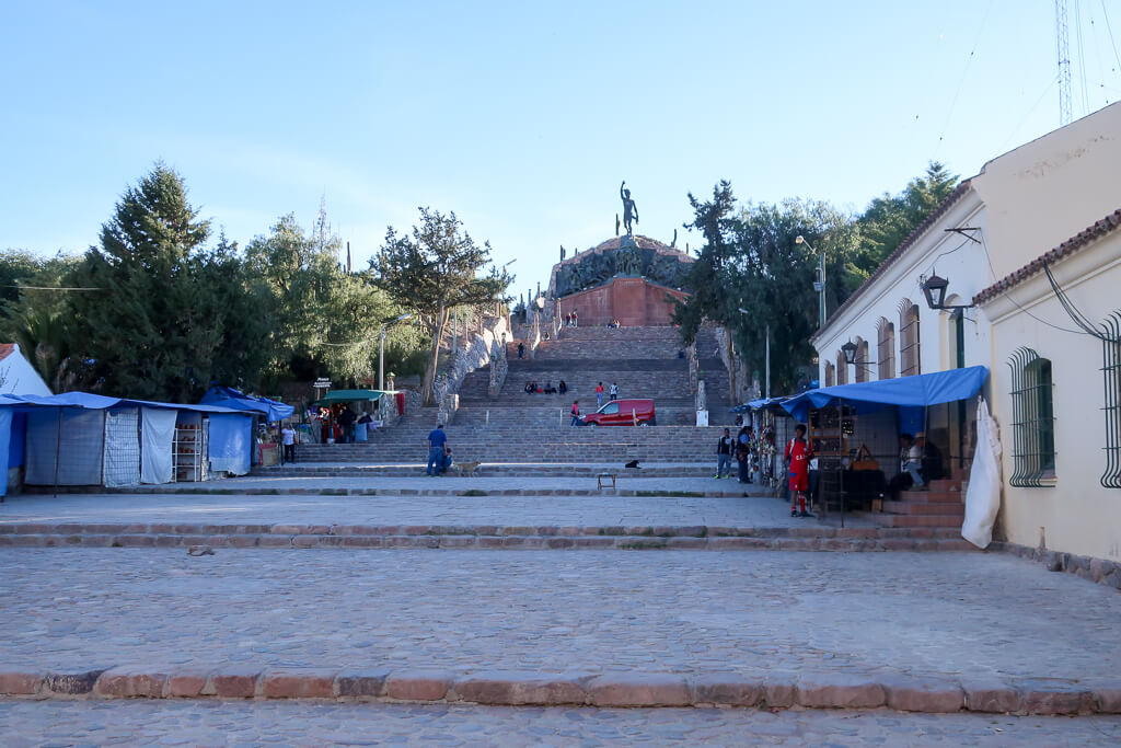 The heroes of the independence monument in Humahuaca Jujuy