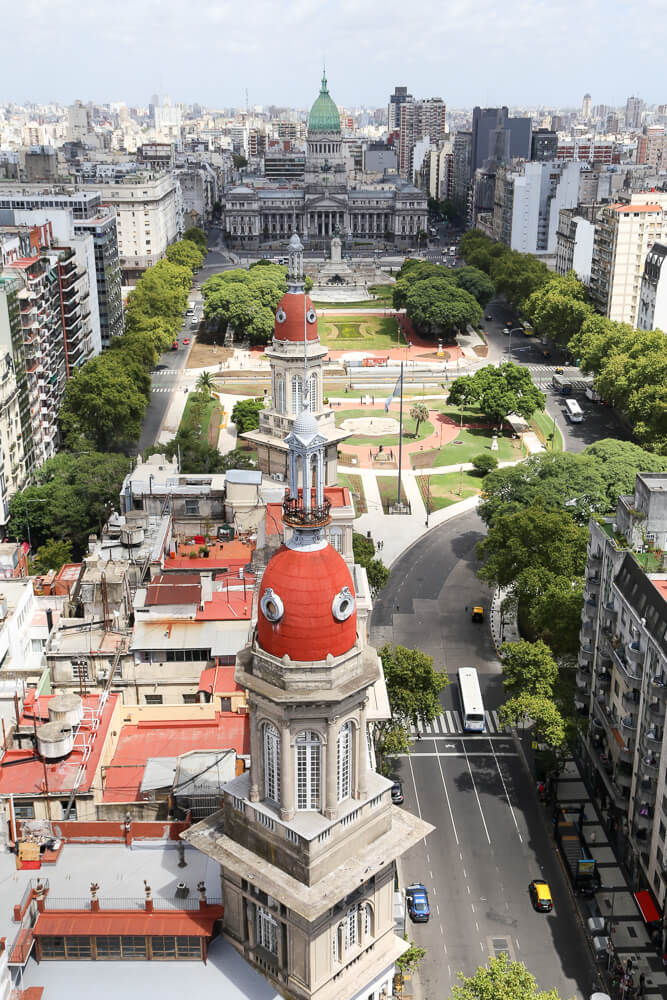 Self guided walking tour of Avenida de Mayo Buenos Aires