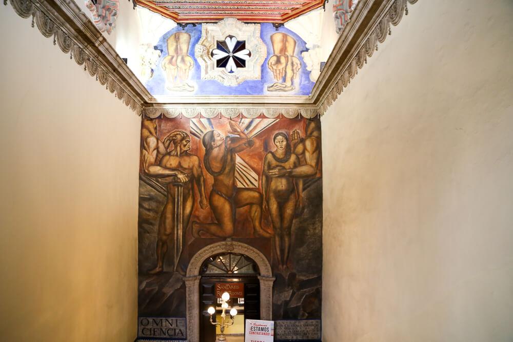 Visiting the Casa de los Azulejos on our day in Mexico City