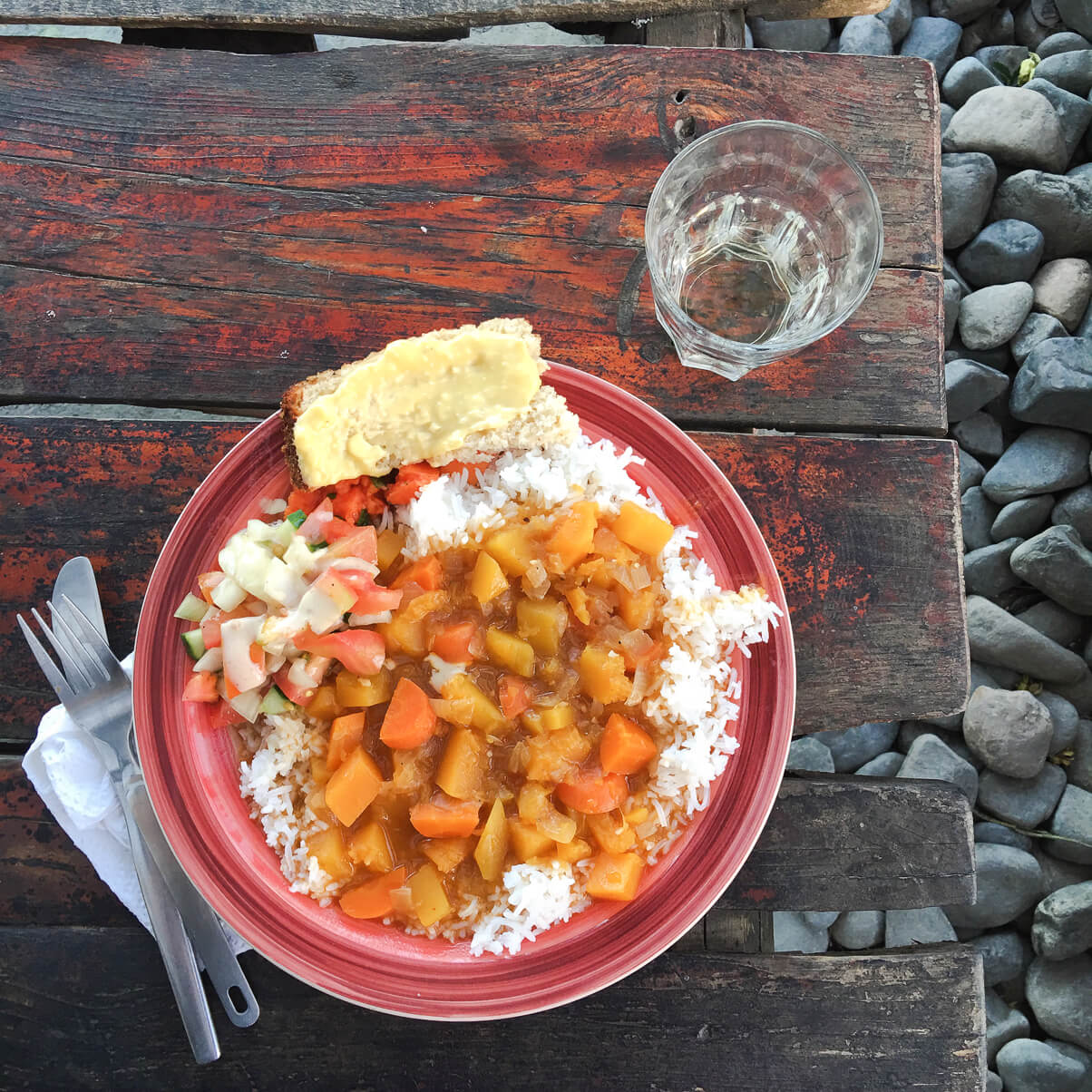 Best dinner at the Mdumbi Backpackers