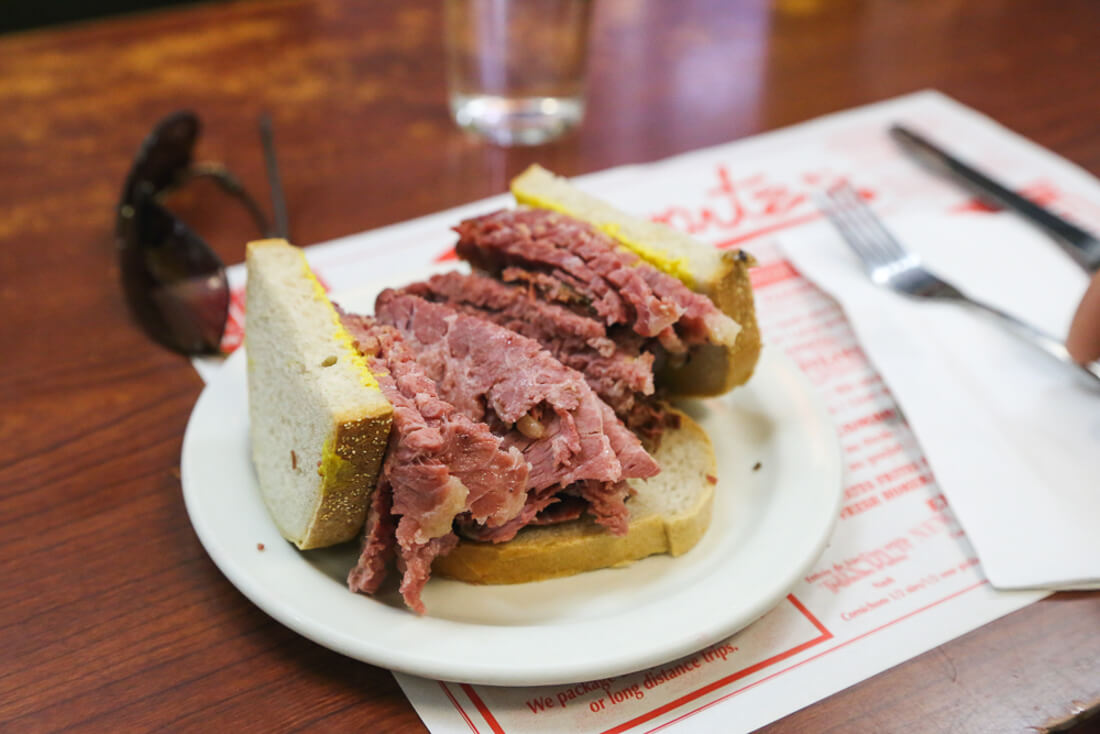 Must eat Montreal foods, a smoked meat sandwich