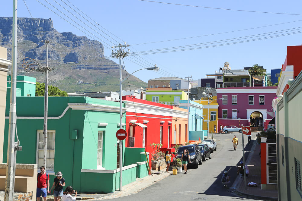 The colorful streets of Bo-Kaap on our 5 day Cape Town itinerary