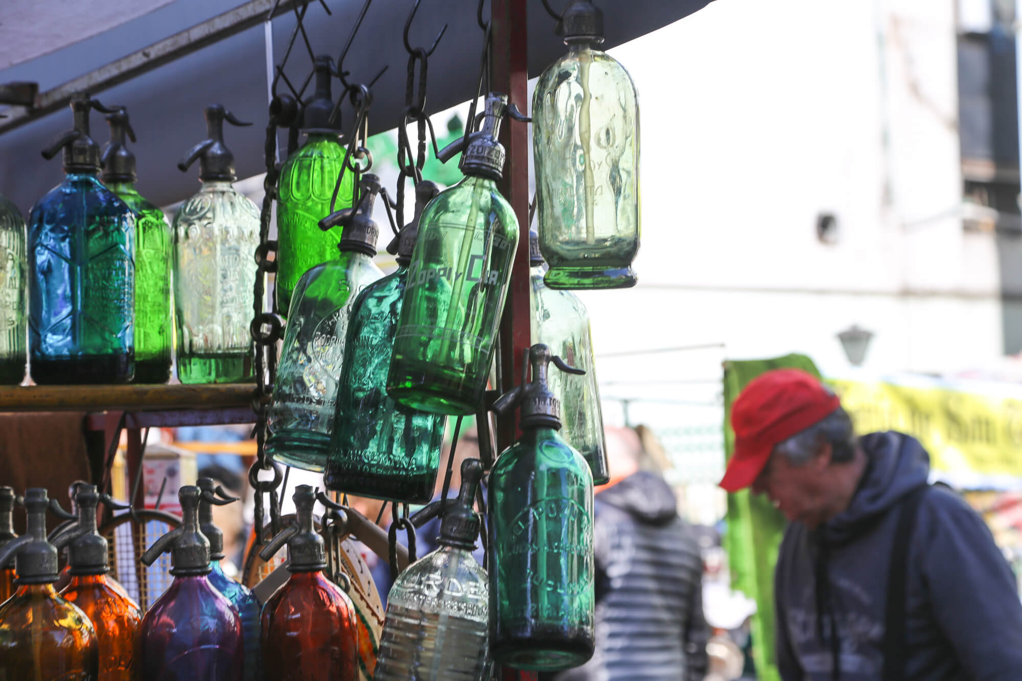 Best Buenos Aires Souvenirs like these green antique soda bottles