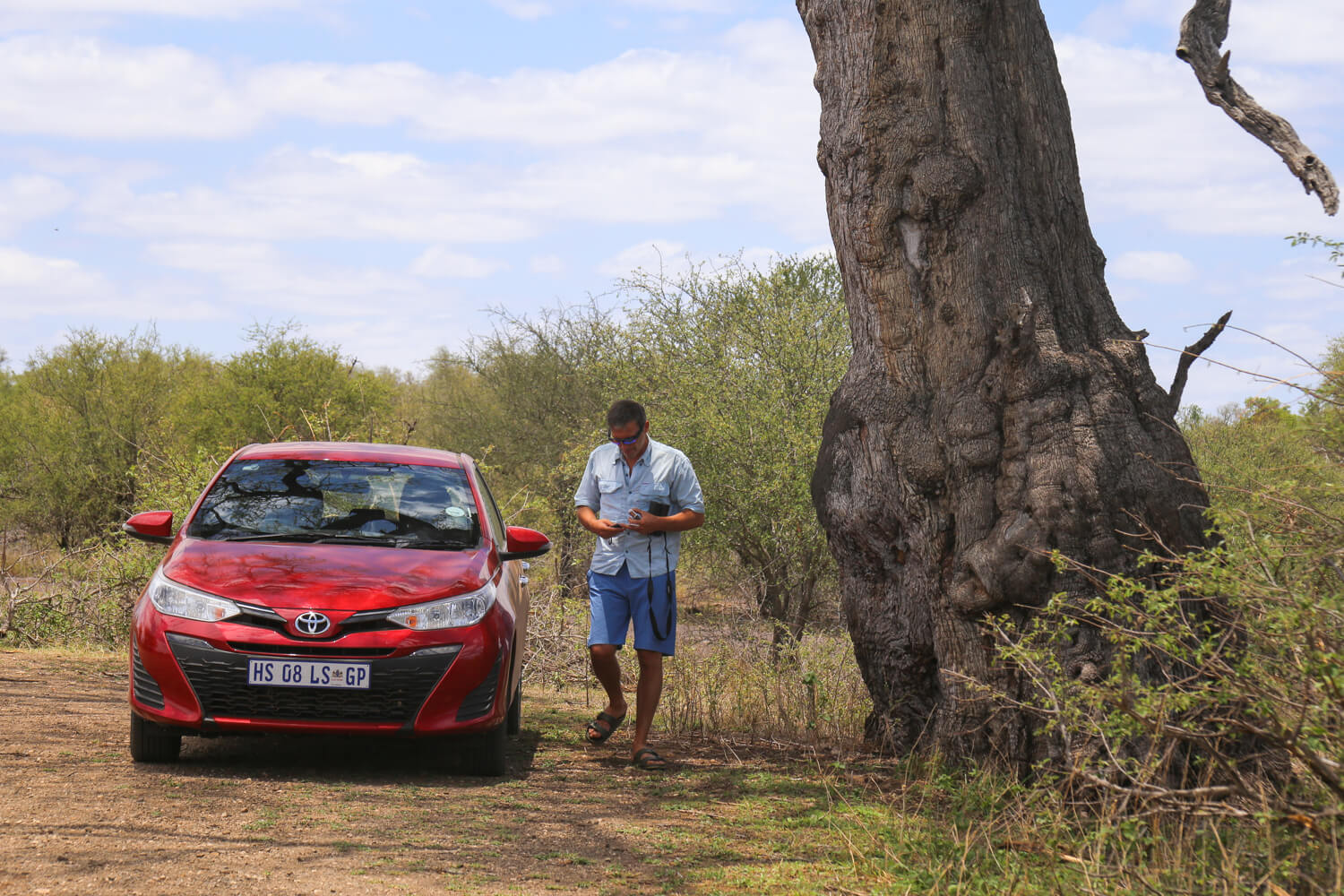 Our trusty rental car, it was small but it got the job done! You don't need a large 4x4 to have a great safari.