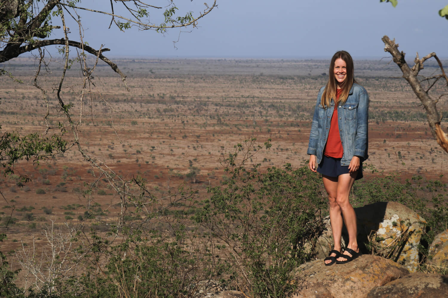 Me standing awkwardly at one of the view points just south of Tshokwane