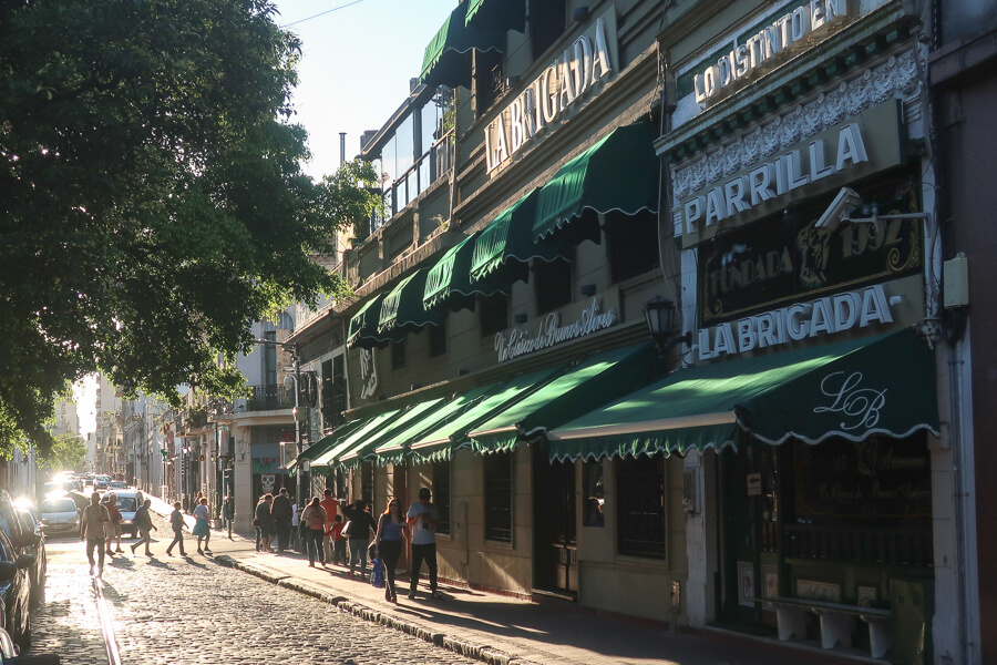 Exploring the side streets in the barrio San Telmo in Buenos Aires