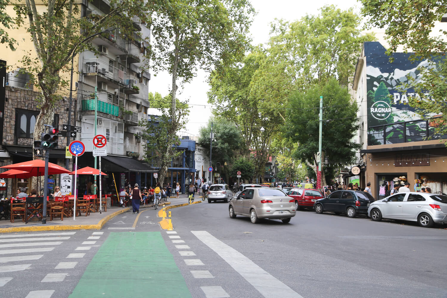 Plaza Serrano is surrounded by bars, cafes and shops selling products by independent local designers