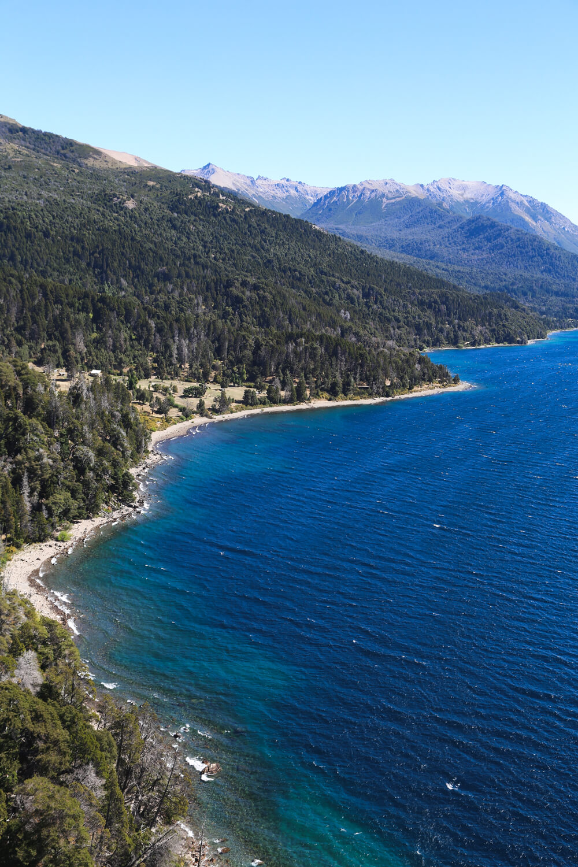The beautiful Lago Traful on the Ruta de los Siete Lagos Argentina