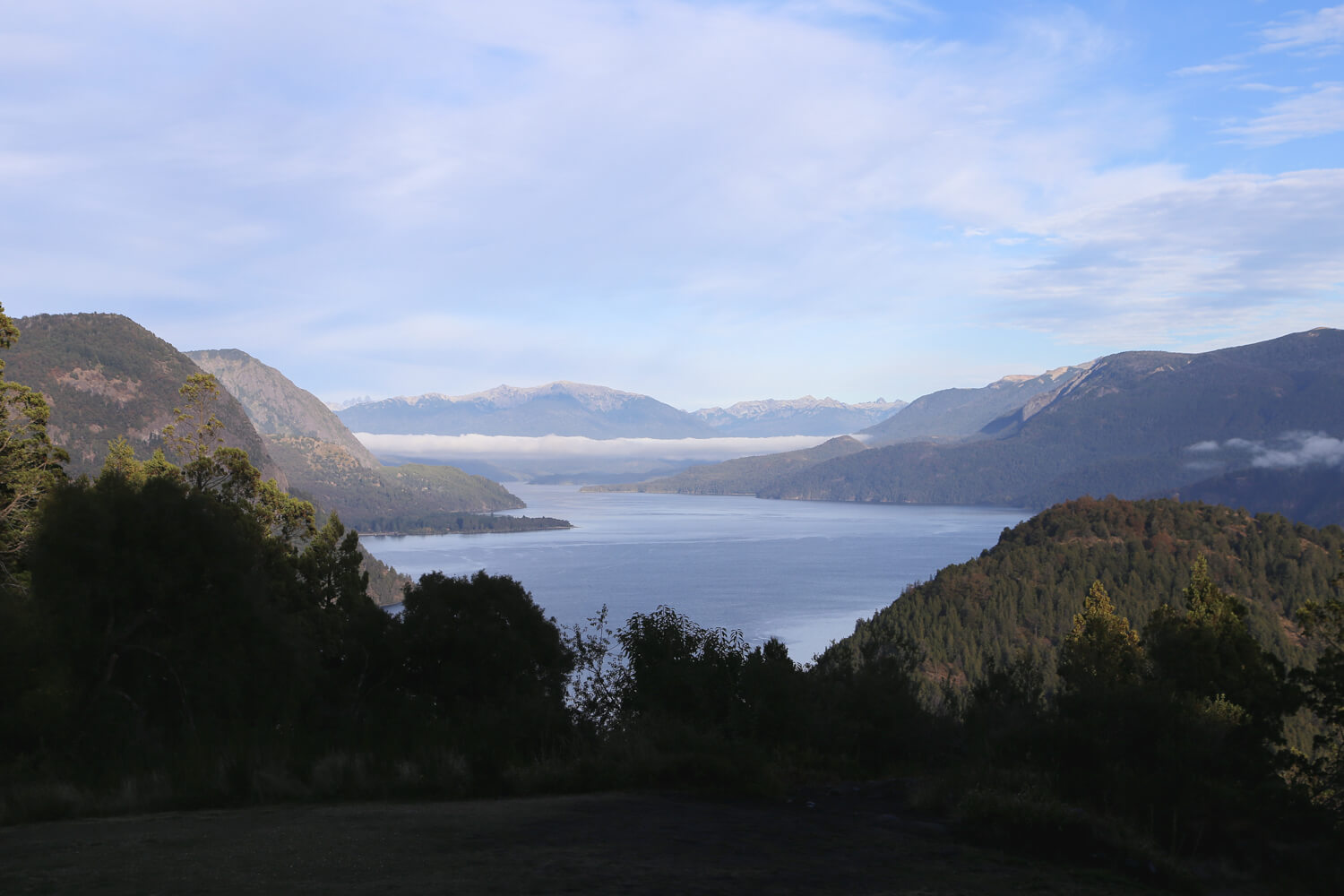 The view of Lago Lácar from Arrayan Hosteria