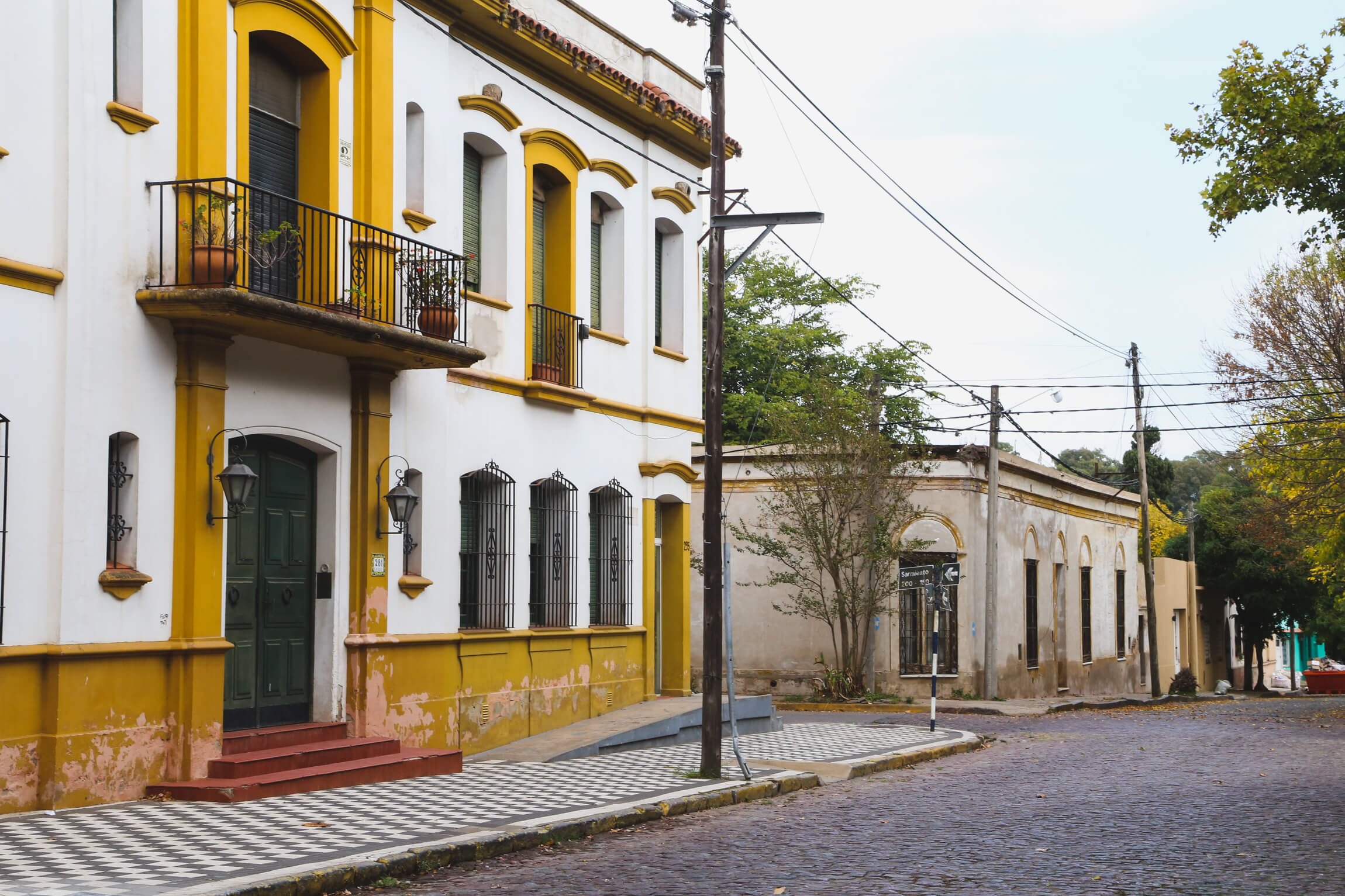 The historic center of downtown Chascomus Argentina