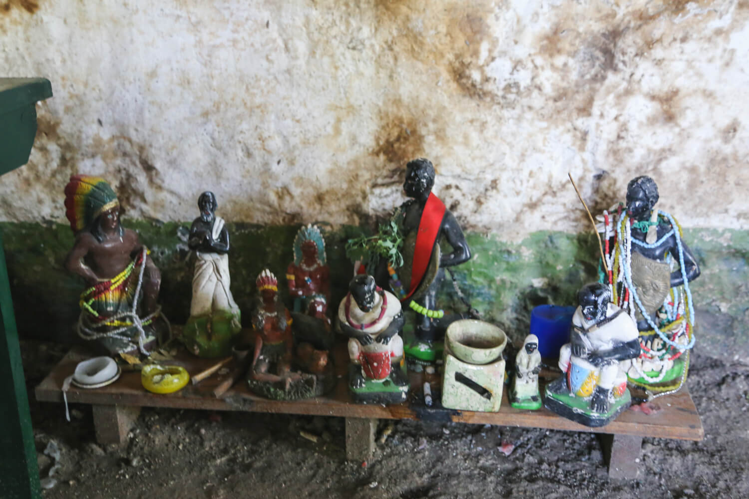 African icons at the capilla de los negros in chascomus argentina