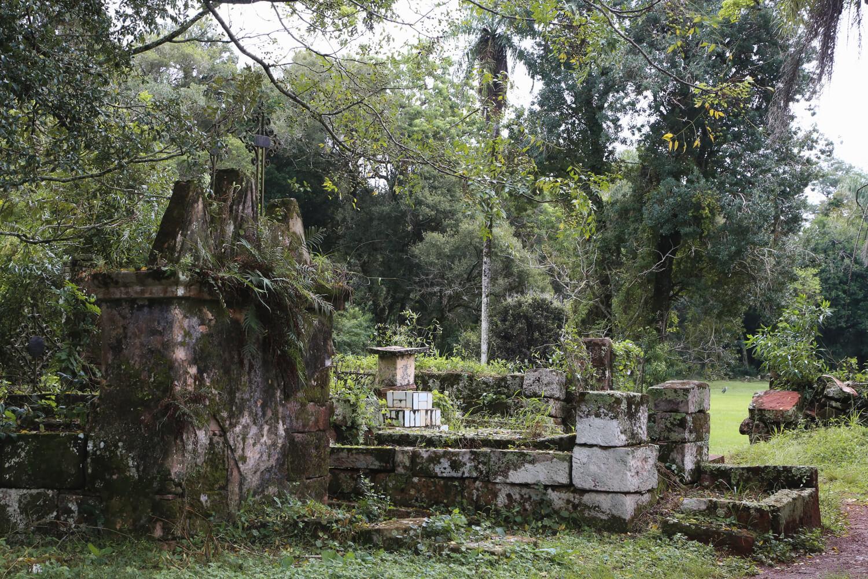 The cemetery at the Santa Ana ruins