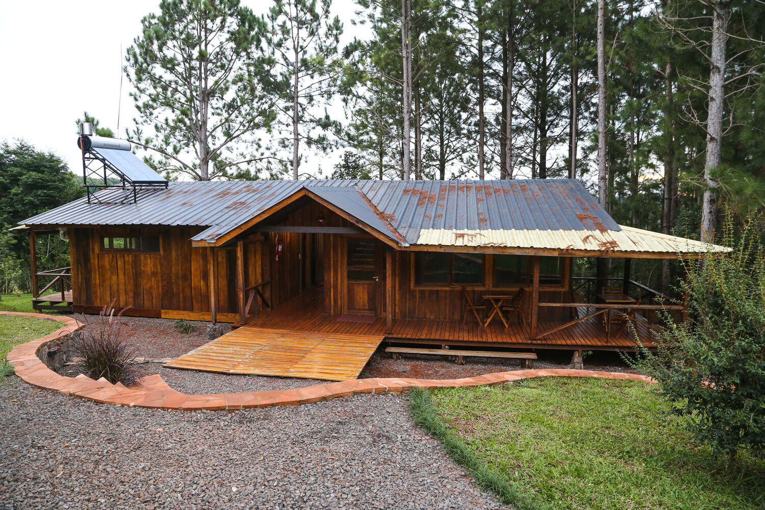 A log cabin in a jungle on a Misiones Northeast Argentina road trip