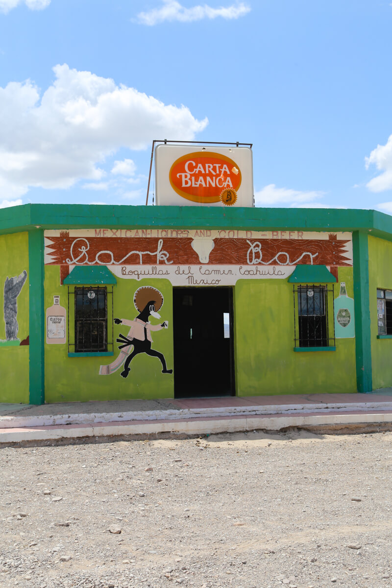 The only bar in Boquillas Mexico