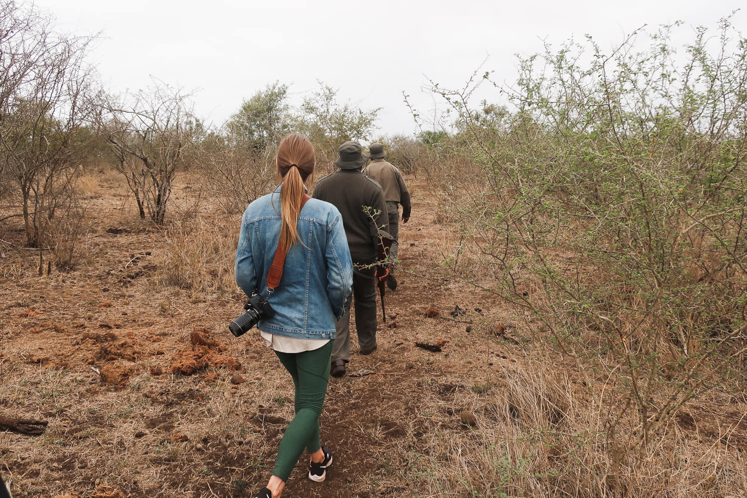I think my Nike running shoes are the best women's walking shoes for travel on active trips. On this trip to South Africa, I took them on a walking safari and on a few hikes!