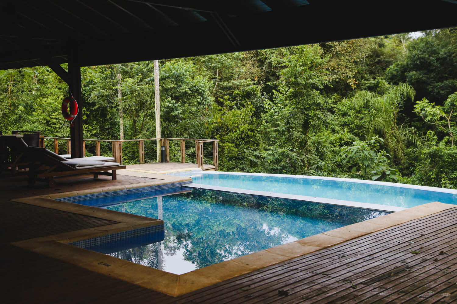 This swimming pool alone is worth staying at the Mocona Virgin Lodge.
