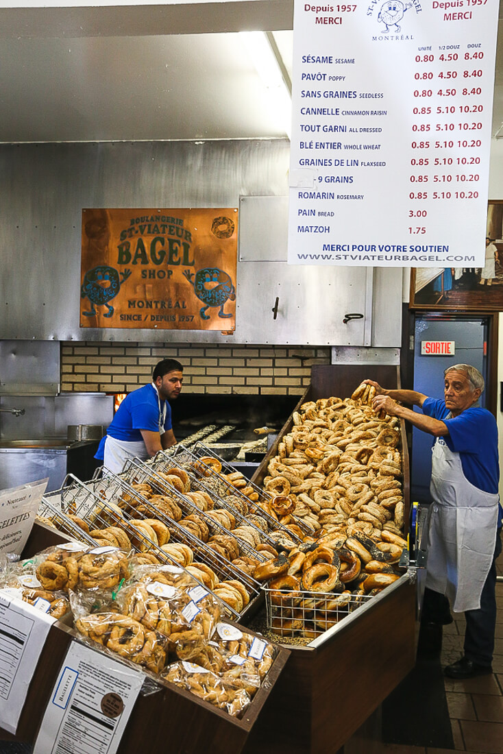 Bagels for sale in Montreal are one of the best Must eat Montreal foods