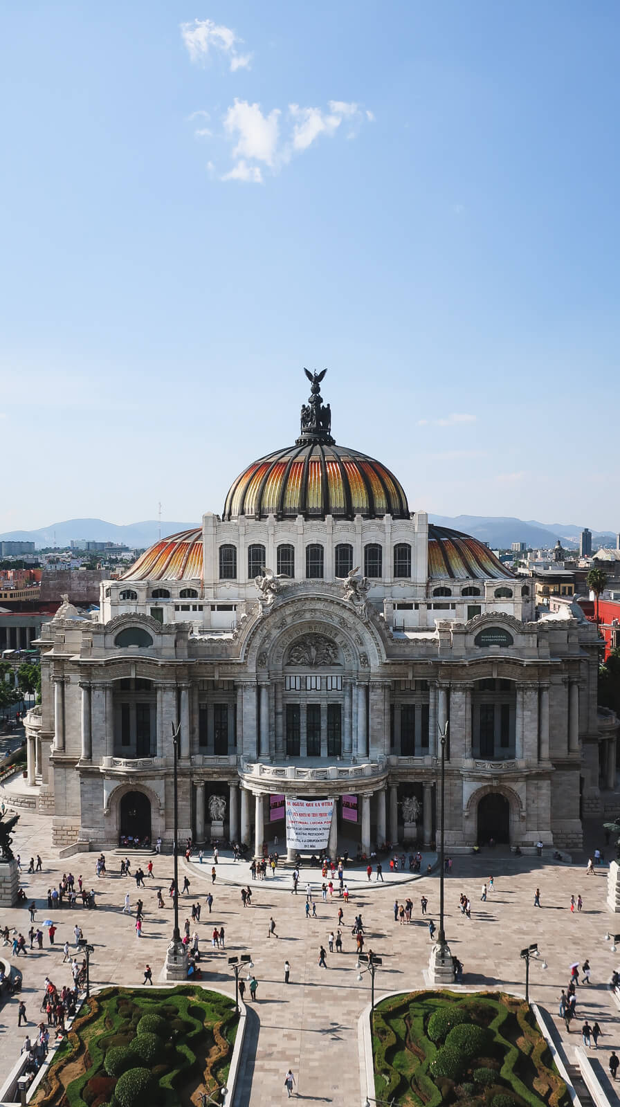 The Bellas Artes palace in Mexico City
