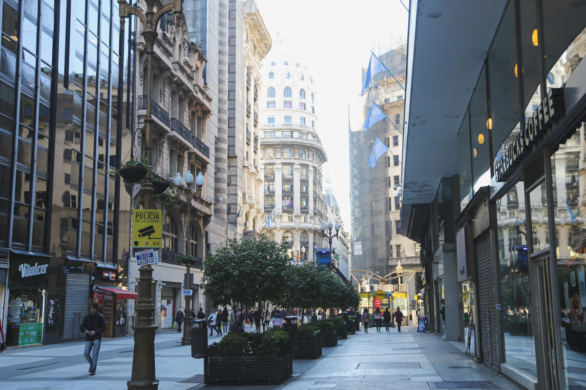 Florida Street is a pedestrian street in the heart of Buenos Aires' downtown.